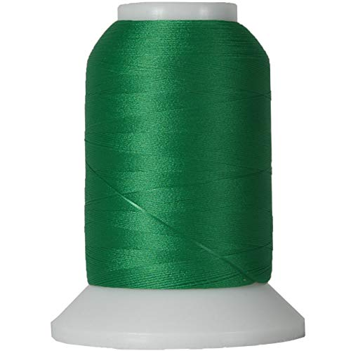 Threadart Wooly Nylon Thread - 1000m Spools - Color 9158 - GREEN - Serger Sewing Stretchy Thread - 50 Colors Available