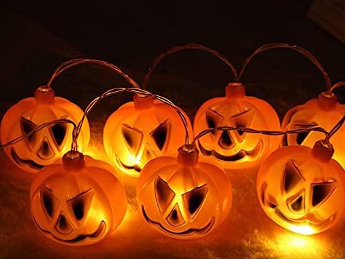 Decoraciones de Halloween Luces LED, Luces de calabaza 3D Cadena de Halloween 3,5 m 20 Garland Light Carnival Deco Decoración del hogar para la iluminación de la batería Decoración navideña Temporada