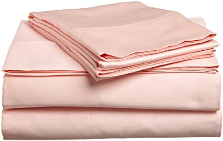 Dreamz Bedding Premium de qualité Lit en Coton égypcravaten de lit 76,2cm Poche Profonde suppléHommestaire Euro Super King, pêche Solide, Scala 100% Coton Parure de lit