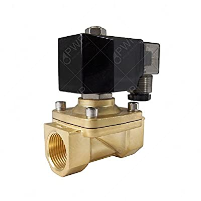 """PWP Normally Closed Brass Viton 2-Way Solenoid Valve 110V 1/2"""" NPT from Pro Water Parts"""