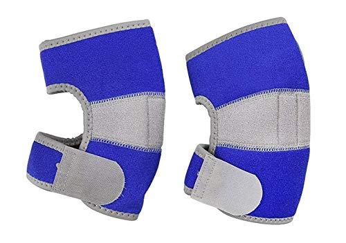 Ellbogenschützer Kinder Ellenbogenschutz Unterstützung Sport Ellenbogenschoner für Junge Mädchen Ellenbogenstütze Blau Stützbandage Atmungsaktive Ellenbogenbandage für Basketball Rollschuh Fußball
