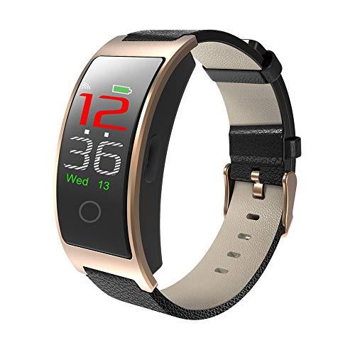 tieoqioan Reloj Inteligente Temperatura Corporal Monitor de frecuencia cardíaca Presión Arterial Deporte IP67 Pulsera Inteligente a Prueba de Agua