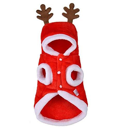 Uayasily Navidad del Perro De Perrito del Traje De Navidad Ciervos Headwear para Los Accesorios del Gato (XL)