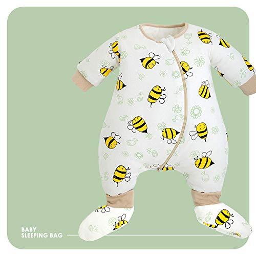 flqwe Saco De Dormir De AlgodóN Unisex para BebéS,Saco de Dormir 100% algodón para bebé-A_85-100CM,Saco De Dormir Bebe Verano Y 4 Estaciones Recien Nacido