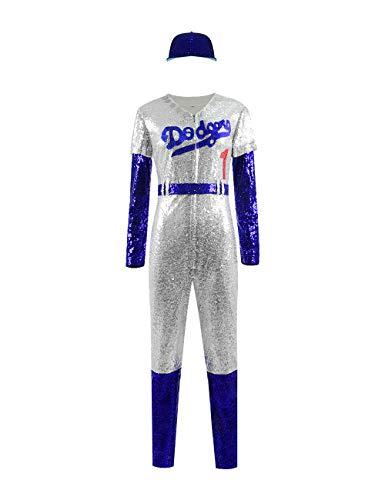 Xiao Maomi Elton John Halloween Cosplay Kostüm Baseball Uniform Jumpsuit Mütze Komplettset - - X-Small