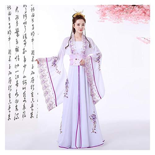 YUNGYE Disfraz de hada fresca de tul de manga ancha, estilo antiguo Hanfu princesa verano estudiante clsico traje de baile (color, tamao: talla nica)