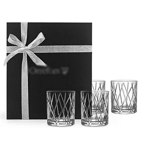 Copa De Vino De Cristal Vaso De Whisky Juego De Copa De Vino De Copa De Jugo Copa De Vino Retro Japonesa Vaso De Whisky Martillado Adecuado para Bar En Casa (Color : Transparent-250mL, Size : 4)