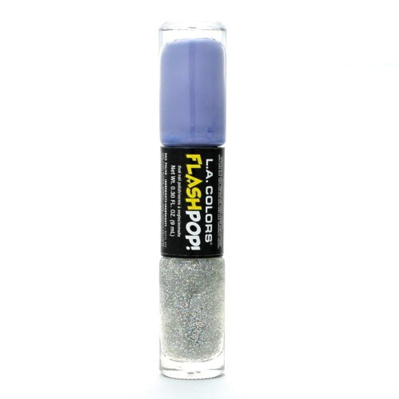 葉っぱ薄汚いキャメル(3 Pack) LA COLORS Flash Pop! Polish - Peri-twinkle (並行輸入品)