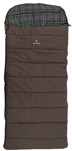Browning Camping Klondike -30 Degree Flannel Sleeping Bag, one Size, Model: 4893514