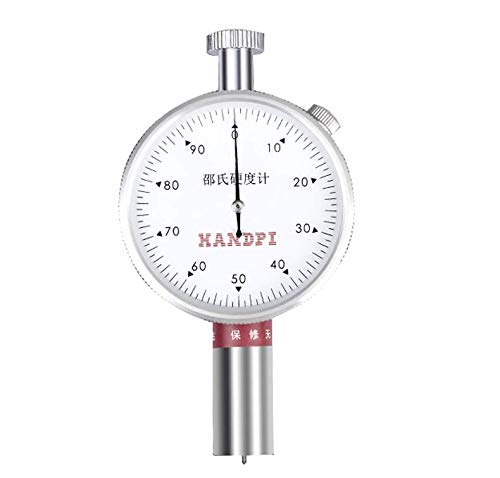 BAOSHISHAN Shore Durometer Shore Hardness Tester Handhold Rubber Durometer for Leather Wax (LX-A, Single needle)