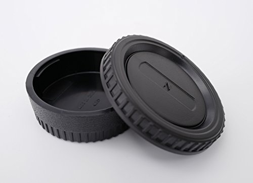 Set: Tapa trasera y tapa del objetivo • Tapa protectora para Nikon D3400 D7500 D500 D850 D5 D500 D810A D750 D7200 D5500 D3300 D810 ...