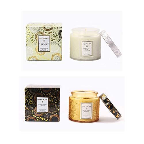 ONLYFU Geschenkset Kerzen Biologisch Abbaubares Und Umweltfreundliches Lange Brennzeit Von Stress Abbaut Und Uns Dabei Hilft Ruhig Zu Schlafen