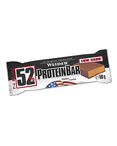 Weider 52% Protein Bar 12 x 50g Riegel 12er Pack Erdnuss-Karamell