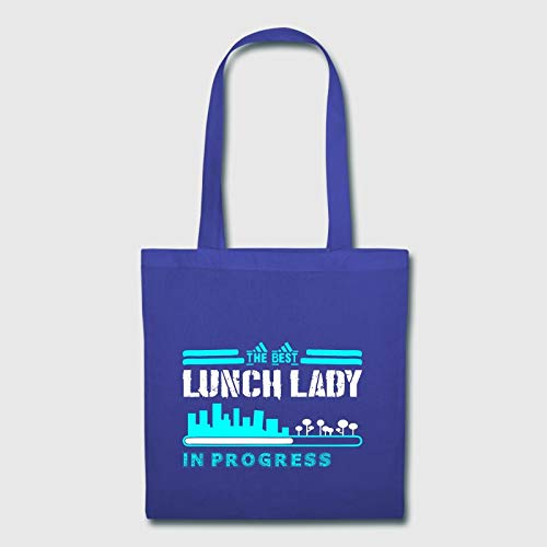 The Best Lunch Lady In Progress Canvas Tote Bag Collapsible Grocery Shopping Basket Cloth Bag For Crafting And Decorating
