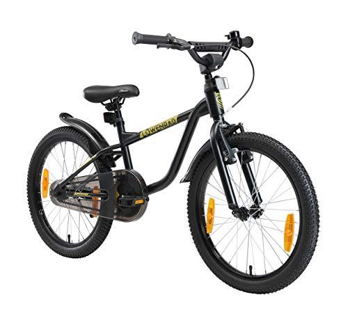 LÖWENRAD Kinderfahrrad für Jungen und Mädchen ab 6 Jahre | 20 Zoll Kinderrad mit Bremse | Fahrrad für Kinder | Schwarz