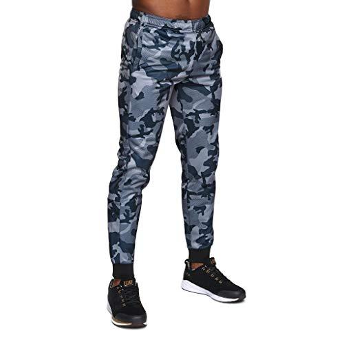 LEONE 1947 AB303, Pantaloni Tuta Unisex Adulto, Grigio Camouflage, M