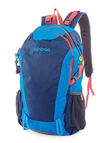 blnbag S2 - Leichter Fahrradrucksack, Sportrucksack, Reiserucksack für Camping + Wandern, Backpack Freizeitrucksack mit 2 Hauptfächern, Unisex, 15 Liter, Ocean Blue