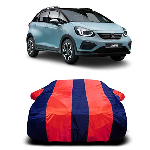 PRA-V Present A1 Quality New Honda Jazz Car Cover Waterproof Model 2020 2021 All Weather Windproof Dustproof UV Protection Scratch Resistant Universal Fit for New Honda Jazz (Red Strip)