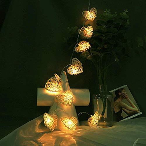 LedStrip LedStreifen 10/20/40Leds Rattan Heart Led-Lichterketten Weihnachtsbeleuchtung Weihnachtshochzeitsfeier Valentinstag Dekoration Fairy Garland 2.5M 20Leds