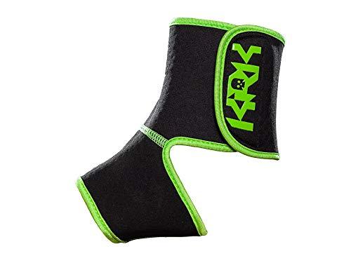 KRKpro Unisex– Erwachsene FETISCH Knöchelprotektoren Knöchelschutz KRK, Black/Green, S/M