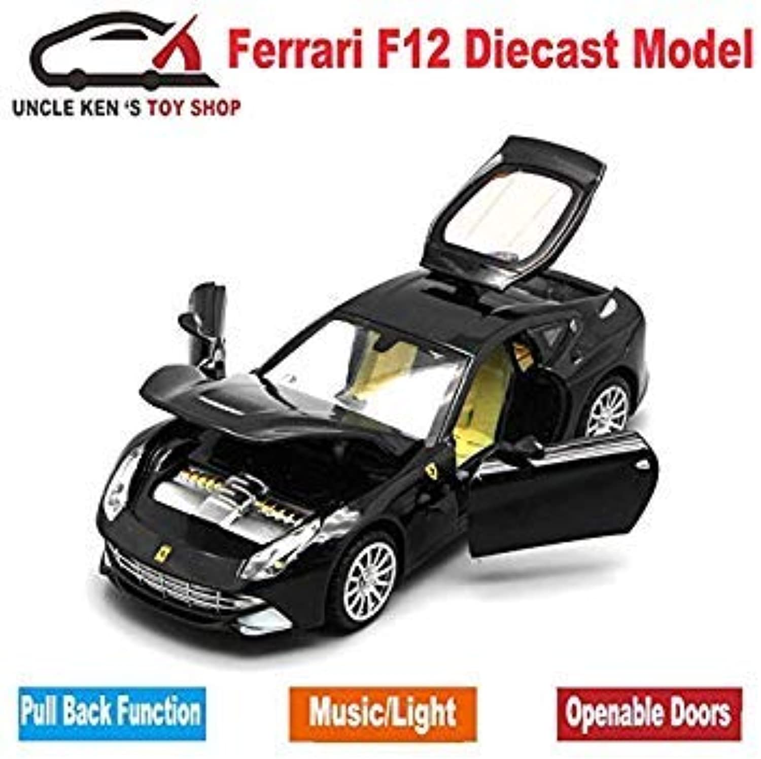 Diecast Scale Models Toys Sport Sport Sport Cars, Collection Vehicle for Boys with Different colors Black c7a095