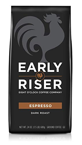 Early Riser Espresso Ground Coffee, 24 Ounce