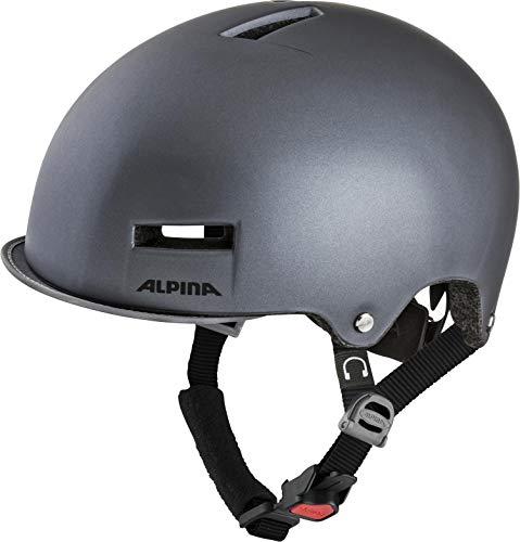 ALPINA GRUNERLOKKA Fahrradhelm, Unisex– Erwachsene, titanium, 52-57