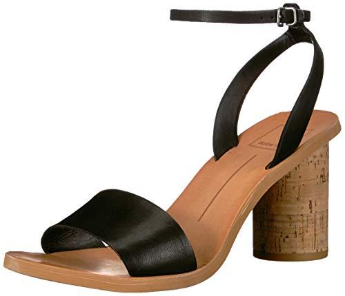 Dolce Vita Women's Jali Sandal, Black Leather, 5.5 M US