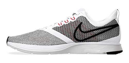 Nike Zoom Strike, Zapatillas de Deporte para Hombre, Multicolor (White/Black/Bright Crimson/Pure Platinum 101), 44 EU