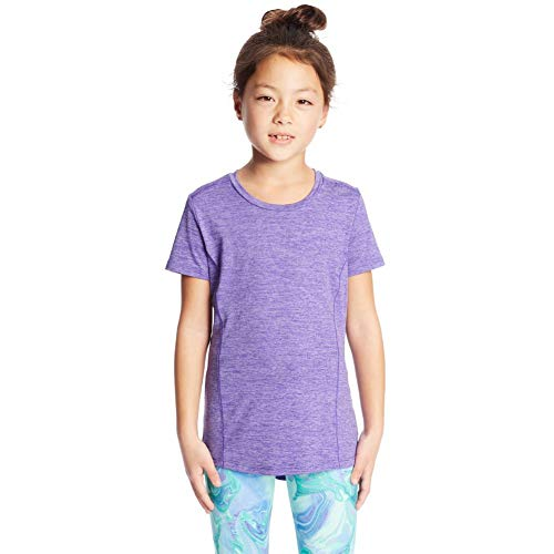 C9 Champion Girls' Supersoft Tech Tee, Lilac Wash/Bright Plum, M