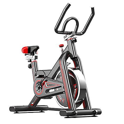 Bicicleta Estática Bici Spinning Indoor, Correa Silenciosa, Resistencia Magnética, Asiento Suave Ajustable, Bicicleta Estática Uso En Casa Con Bandas De Resistencia, Ideal Para Uso Doméstico