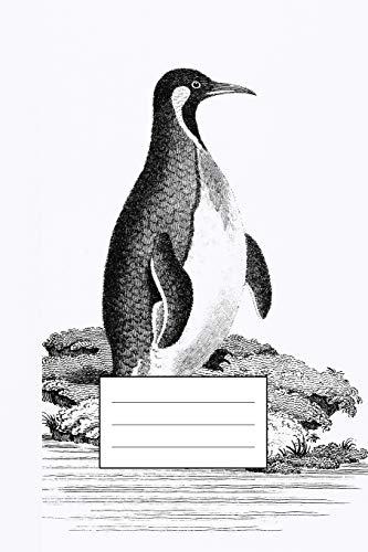 """Notizbuch für Kreative: Individuelles Notizheft mit Illustration """"Pinguin"""" von George Shaw, Notebook, Schreibheft etwa A5 (15,3 x 22,9 cm oder 6 x 9 ... und Studenten, stilvolle Geschenkidee"""