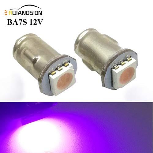 Ruiandsion 2x BA7S LED Éclairage intérieur pour auto 12V 5050 1SMD 30lm, rose
