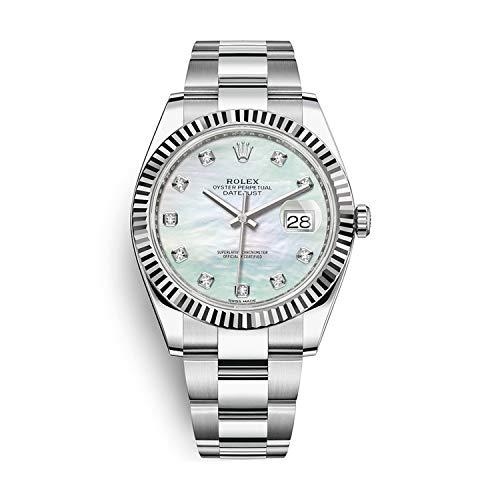 Rolex Datejust 41 automatico bianco Madre della perla quadrante degli uomini orologio...