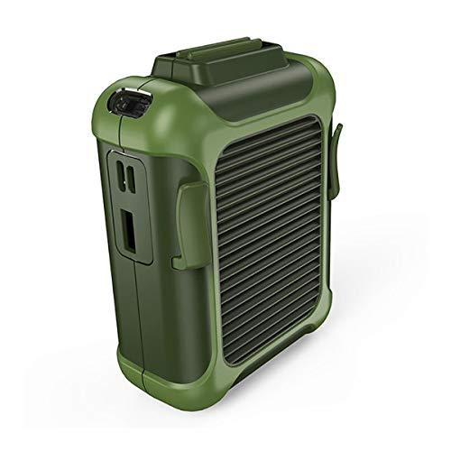 QNMM Mini Ventilador de Cintura Portátil, Enfriador de Ventilador de Cordón Portátil USB con Una Batería de Litio de Gran Capacidad de 4000 MAh para Uso En Viajes En Interiores Y Exteriores