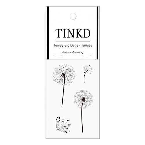TINKD Fake-Tattoo Pusteblume | Dandelion Blumen-Tattoo | Made in Germany