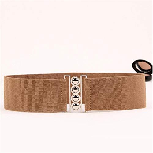 Cinturón Cincha Elástica para Mujer Cinturón De Cintura Elástica De 3'De Ancho con Hebilla De Hebilla Nuevo Cinturón Elástico De Cintura Ancha Retro