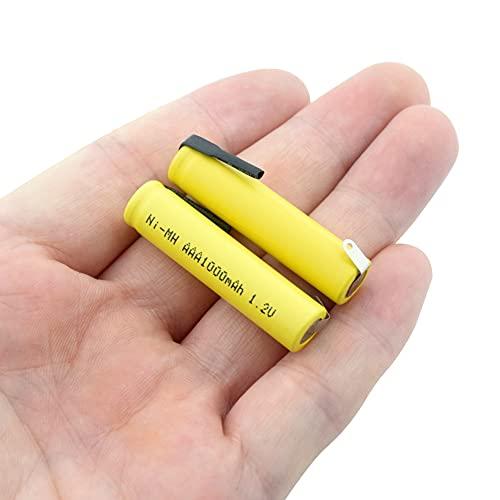 ndegdgswg Batería AAA Recargable del Ni Mh De 1.2v 1000mah, Corriente De Alta Descarga Grande con níQuel DIY 4PCS