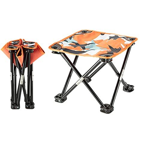 MYRCLMY Silla De Camping Plegable Ultraligera, Compacto Portátil para El Campamento Al Aire Libre, Viajes, Playa, Picnic, Festival, Senderismo, Mochilero Ligero,Naranja,S
