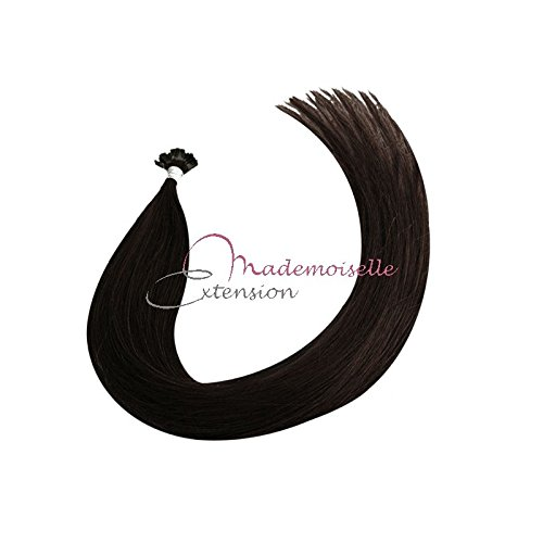 Extension Cheveux kératine - Gamme Density - Brun - 55/60 cm