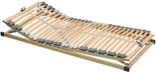 Lattenrost Kopf-und Fußteil verstellbar 100x200cm für Taschenfederkern Federkern - und Latexmatratzen - (3200)