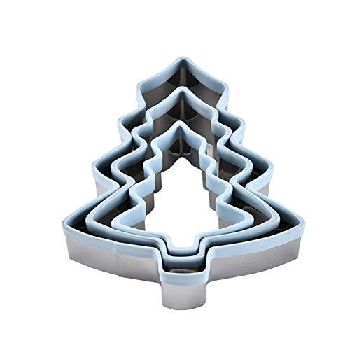 Dingsheng Weihnachtsbaum geformte Ausstechform Kuchen dekorieren DIY Keks Zinn Backform 3PCS