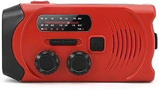 Solar Radio Crank Power Generator, AM/FM/WB Weather Forecast 2000Mah Mobile Power SOS Light Wireless Emergency Equipment, ...