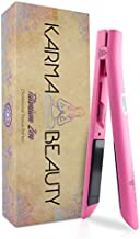 Titanium Hair Straightener   1'' Flat Iron   LCD Screen   Auto Shut-Off   Heats Up Fast   Great for Keratin Treatment  Cool Tips for Easier Use   Dual Voltage   Karma Beauty  