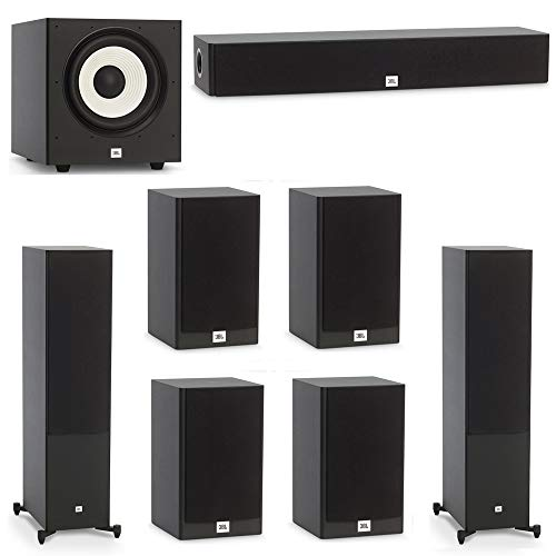 Best Prices! JBL 7.1 System with 2 JBL Stage A190 Floorstanding Speakers, 1 JBL Stage A135C Center S...