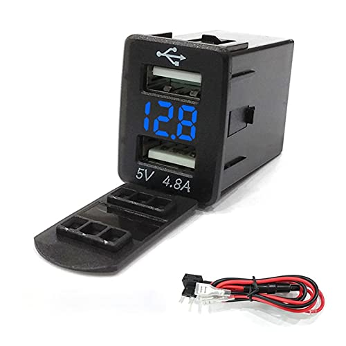 XIAO YANG 4.8a Dual USB Adaptador de Corriente del teléfono Modificación del automóvil Ajuste para Nissan Sylphy TEANA Tiida Qashqai X-Trail Murano LANNIA Simma BÚSQUEDA (Color Name : Blauw)