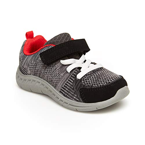 Carter's Boy's Athletic Sneakers, black, 5 M US Toddler Carters Boys Five Pack