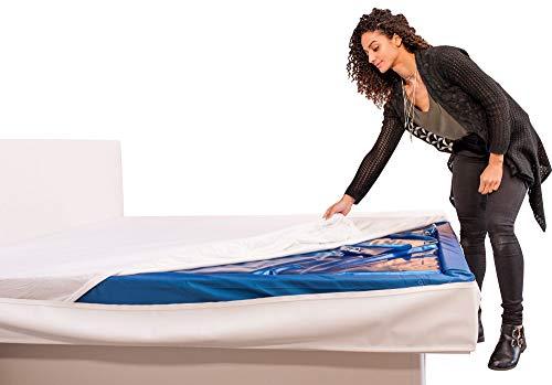 Aqua Sense Topliner Capliner Schonbezug Protector Staubschutz für Wasserbetten und Normale Matratzen (180 x 200 cm)