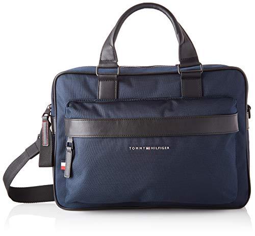 Tommy Hilfiger Herren ELEVATED NYLON COMPUTER BAG Taschen, Wüstenhimmel, One Size