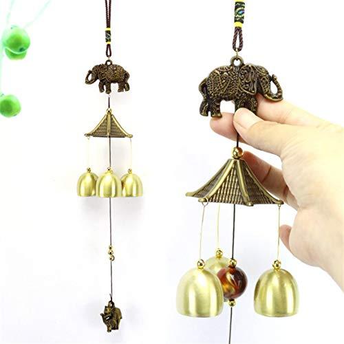 Legierung Windspiel Ornamente Glück Glück Garten Kupfer Outdoor Living Yard Garten Wandbehang Dekoration Ornamente Paperllong®
